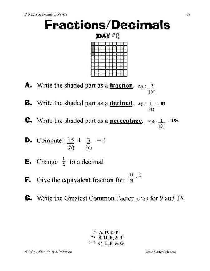 Teaching Fractions Worksheets 3rd 4th 5th Grade Decimals Final Pdf 3rd Grade Fraction Worksheet Worksheet Medium