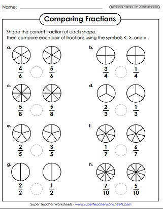 paring Fractions Worksheets