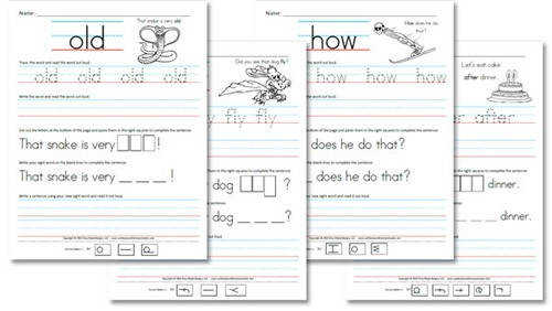 Free Homeschool Worksheets