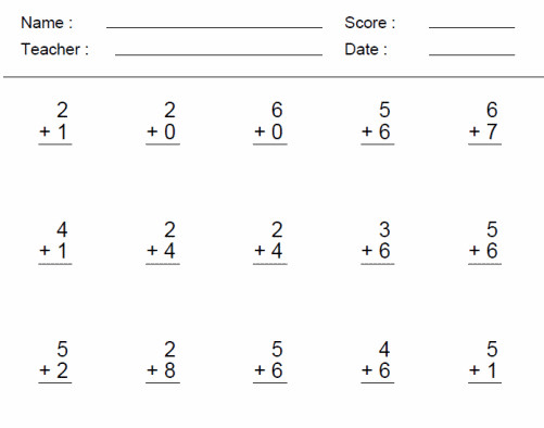 1st Grade Worksheets Add and subtract within 20