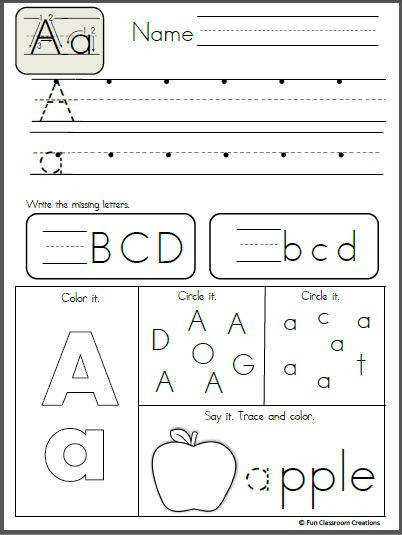 Free Alphabet Letter K Writing Practice Trace it Say it Color it