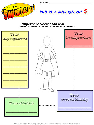 You re a Superhero Worksheet