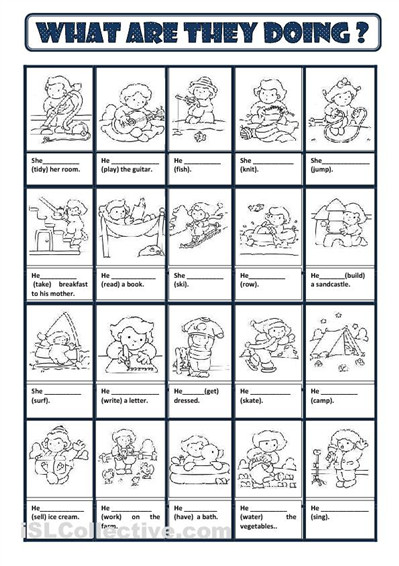 Present Continuous worksheet Free ESL printable worksheets made by teachers