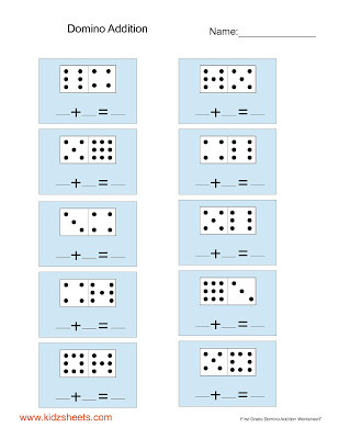 First Grade Domino Addition