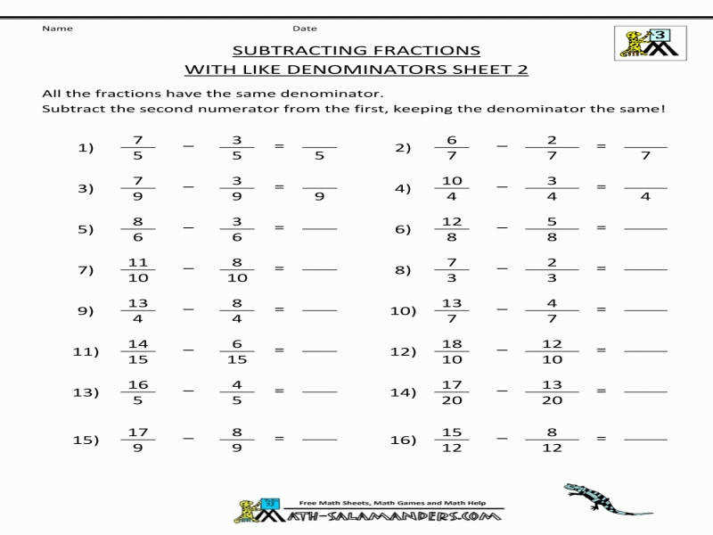Download by size Handphone Tablet Desktop Original Size Back To Add And Subtract Fractions Worksheet