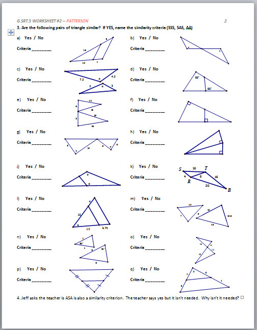 Geometry Worksheet Translation of 4 Vertices up to 6 Units A