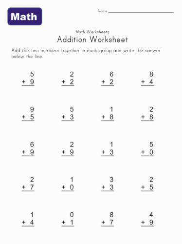 Printable Kindergarten Math WorksheetsMillerdiary Printable Worksheets