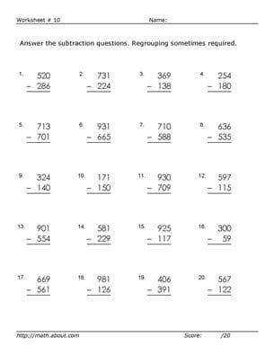 year 3 subtraction worksheets tes Google Search worksheets for chukku Pinterest