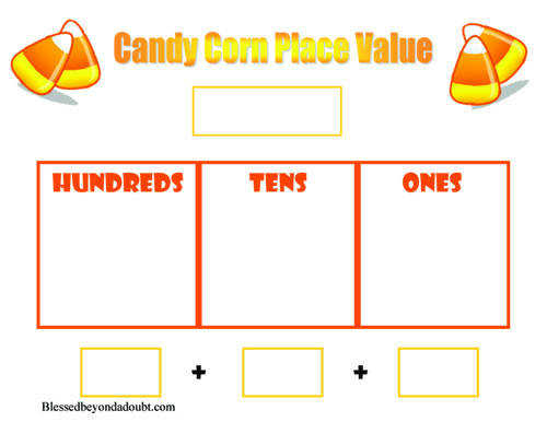 FREE printable place value worksheet