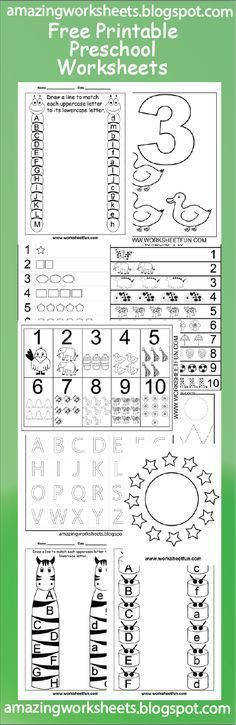 Free Printable Preschool Worksheets