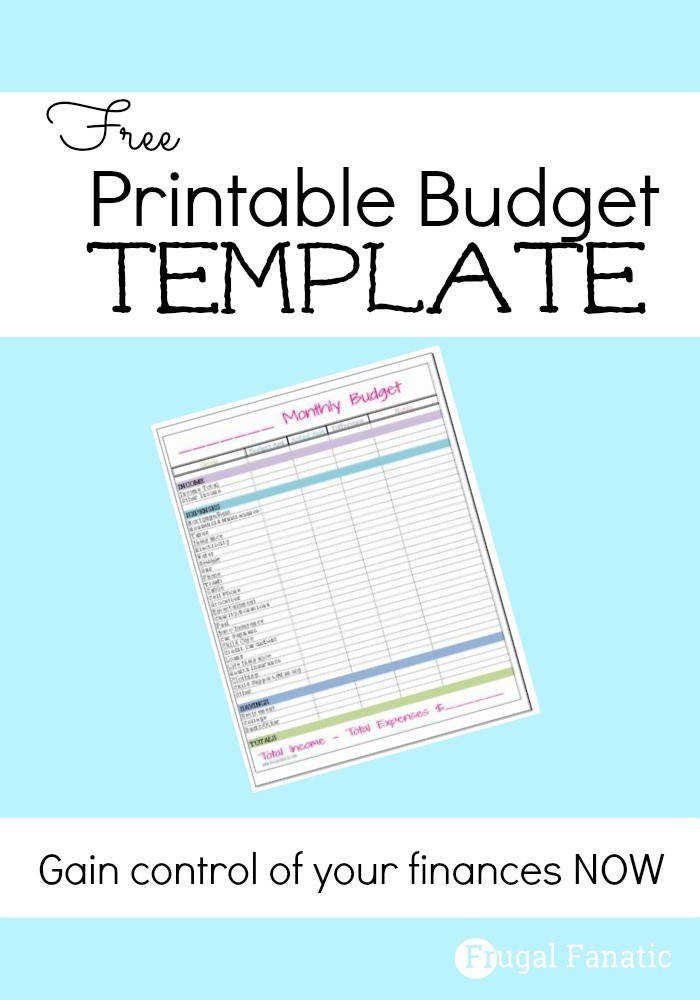 Do you need to gain control of your finances Use our FREE printable monthly bud