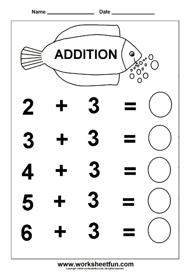 Beginner Addition 6 Kindergarten Worksheets Free Fun Math Addi Fun Kindergarten Worksheets Worksheet Medium