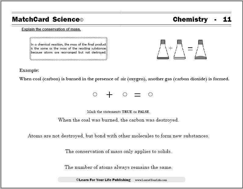 The FREE chemistry worksheets from MatchCard Science provide easy ways to teach chemistry to kids