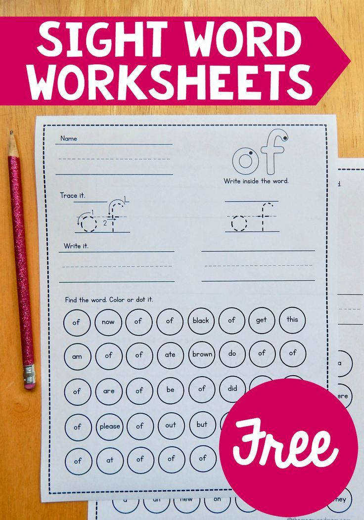 Find over 90 free sight word worksheets for both the preprimer and primer word lists