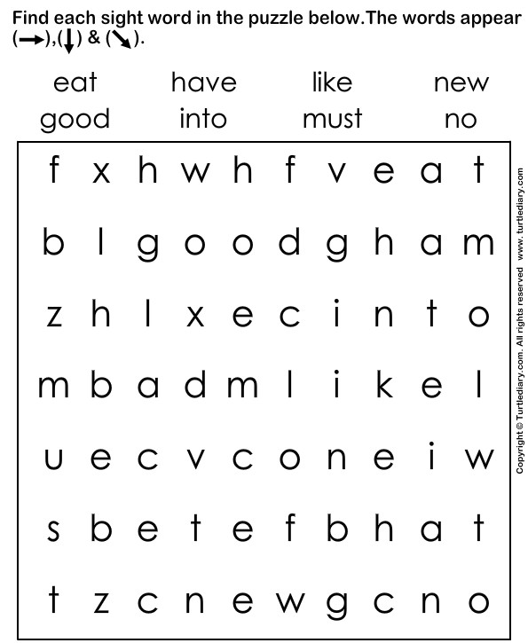 Sight Words Puzzle