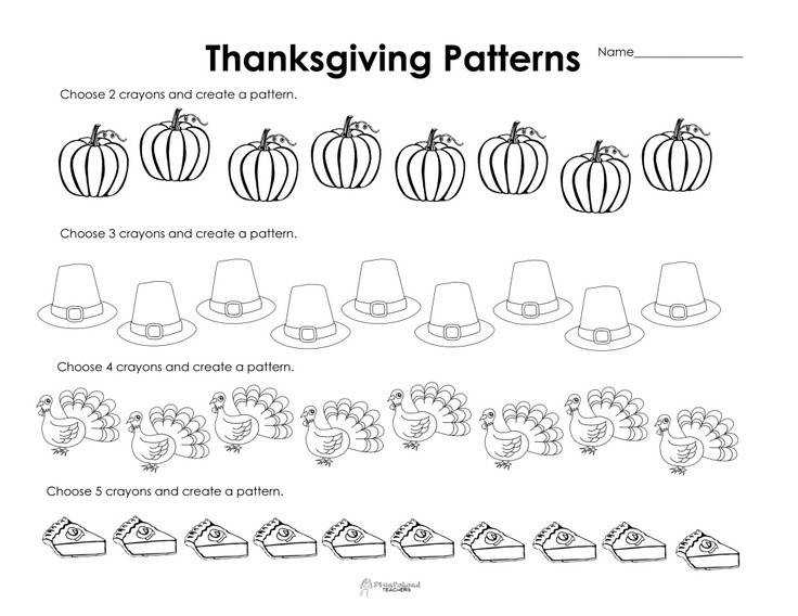 Bunch Ideas of Kindergarten Thanksgiving Worksheets Download