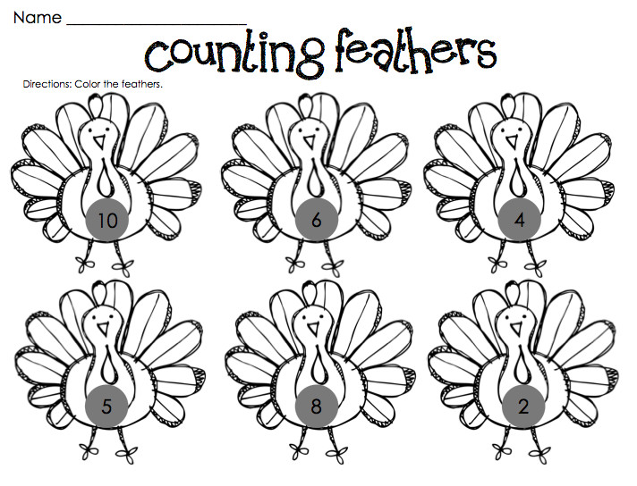 Free Kindergarten Thanksgiving Worksheets Fun worksheets for a