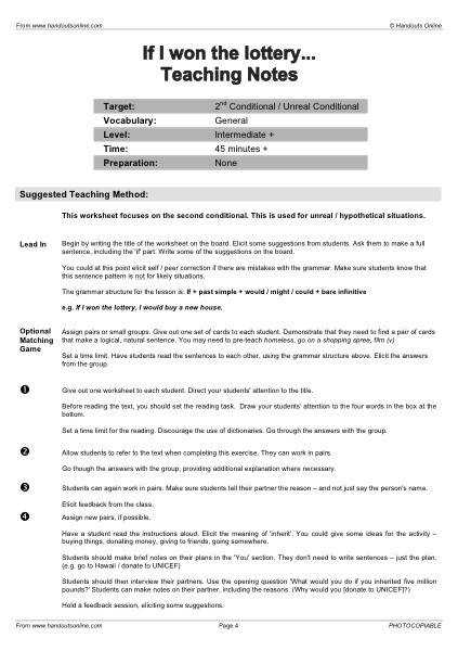 Full Teaching Notes