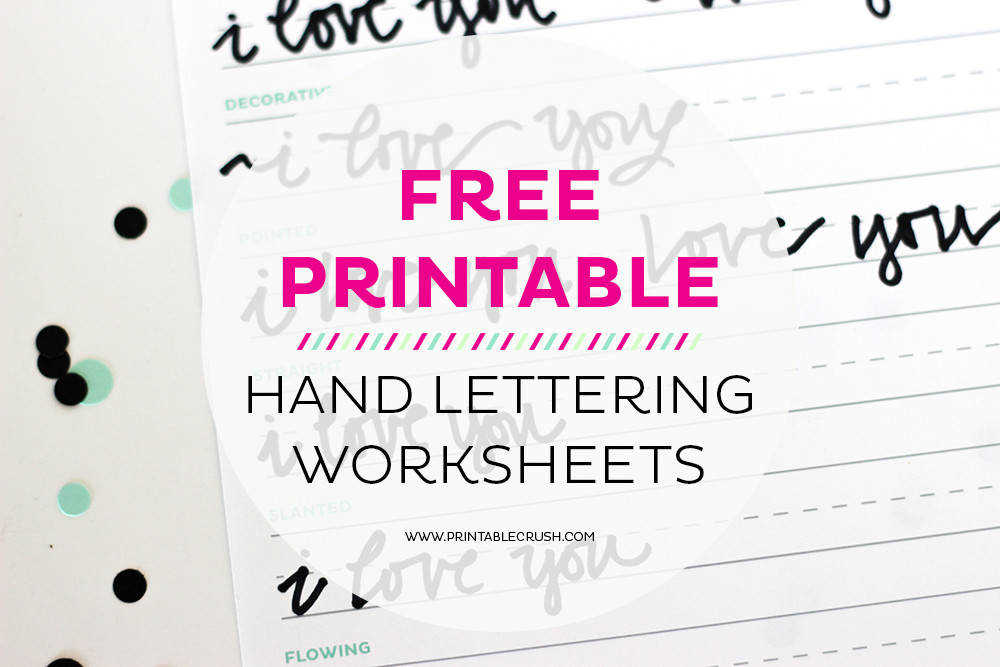 3 FREE Hand Lettering Worksheets for Beginners 11