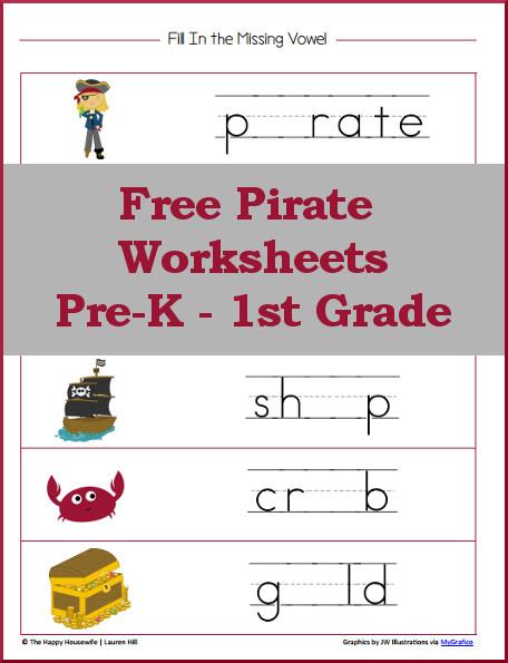 Pirate Worksheets Free Printables