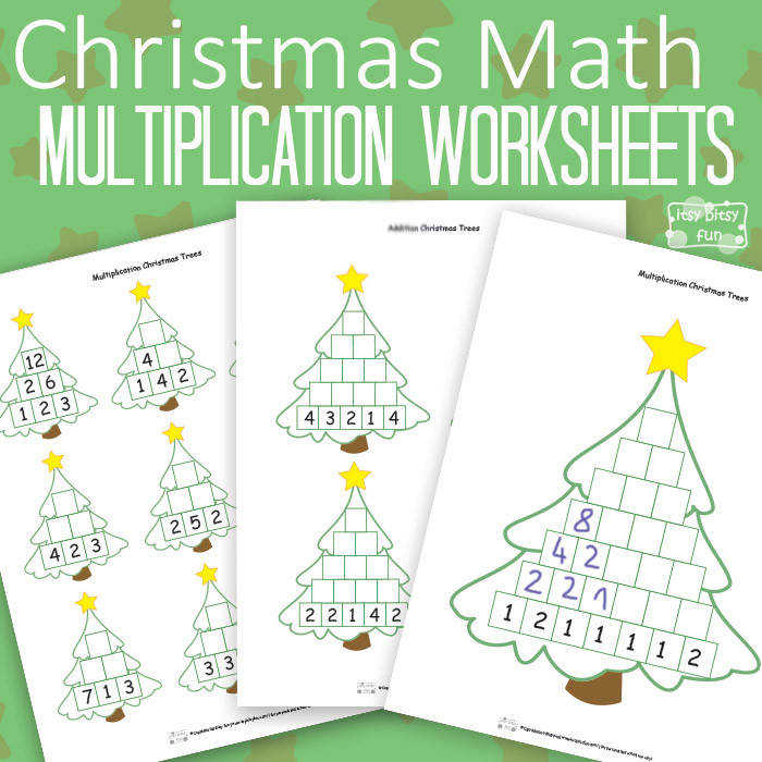 Christmas Math Worksheets Multiplication