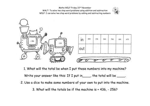 Function Machine 2 Step Differentiated Problems by Belinda89 Teaching Resources Tes
