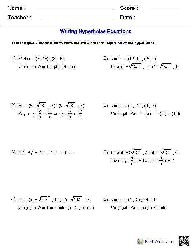 Function Operations Worksheet Answers Golden Rule Equation Snapshoot Ravishing Writing Equations Hyperbolas Worksheets