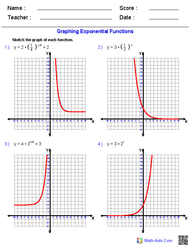 Functions Worksheets