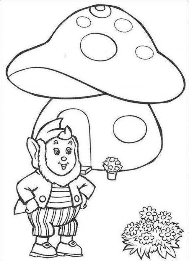 Noddy And Fungi House Coloring Page Coloringplus Noddy