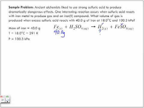 How to Solve Gas Law Stoichiometry with Sample Problem