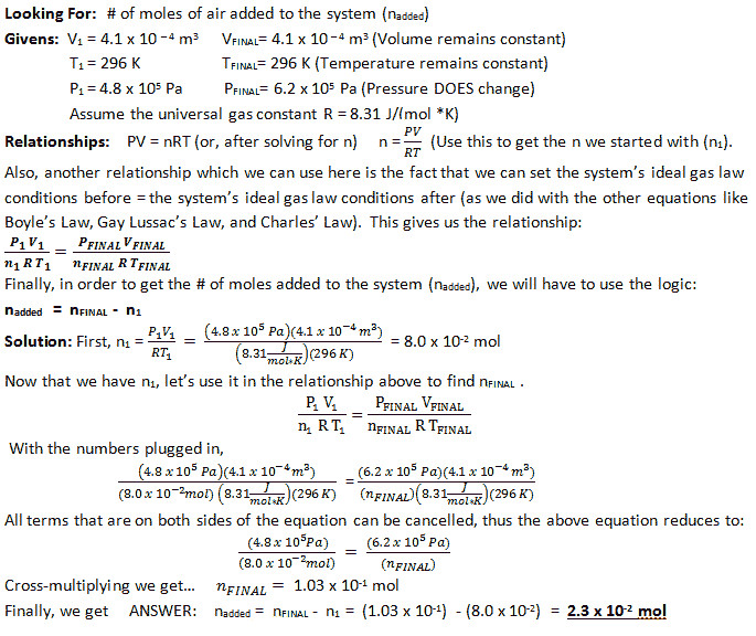 Ideal Gas Law Problems Worksheet Ideal Gas Law Problems Worksheet