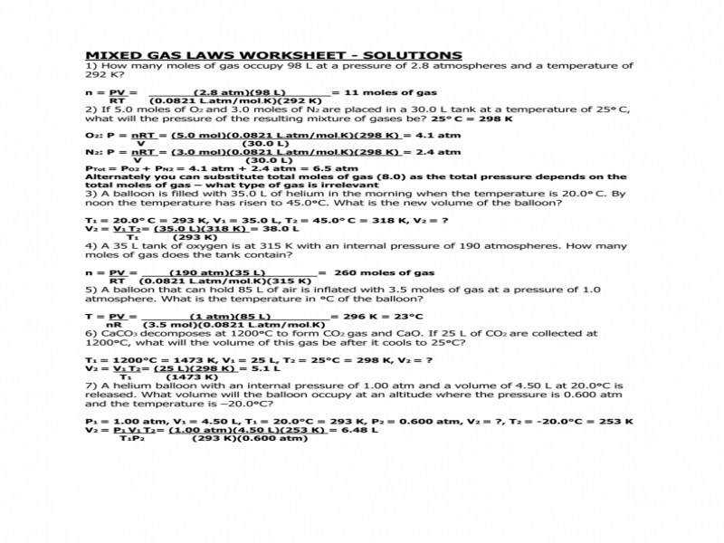 """9 photos of the """"The Gas Laws Worksheet"""""""