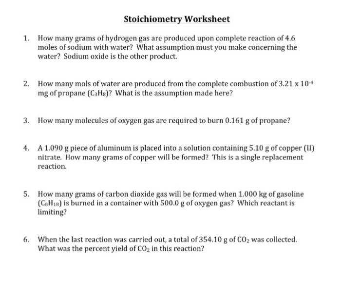 stoichiometry How many grams of hydrogen gas are produced upon c