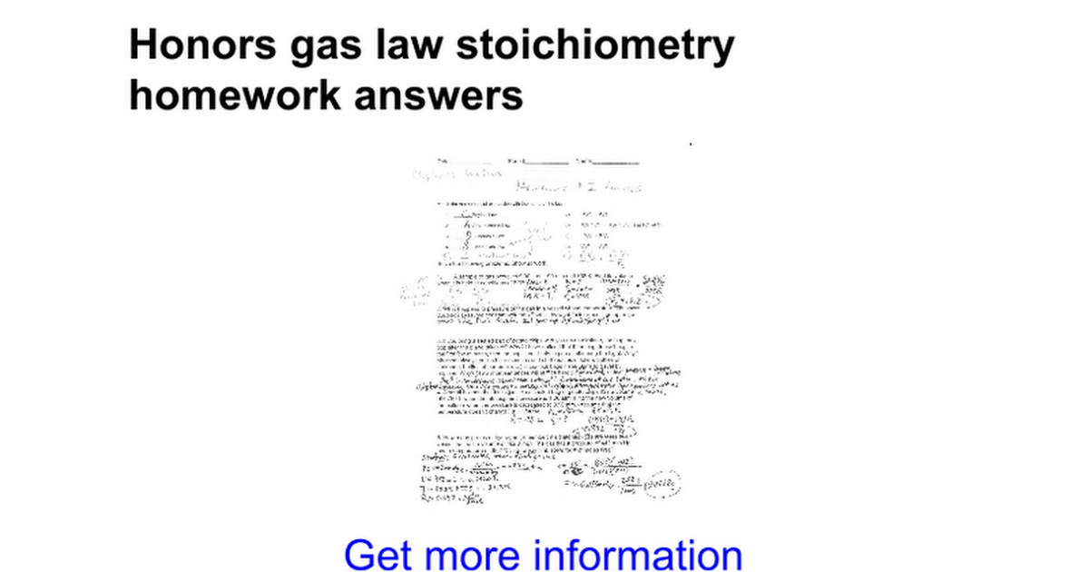 gas stoichiometry worksheet answers. Black Bedroom Furniture Sets. Home Design Ideas