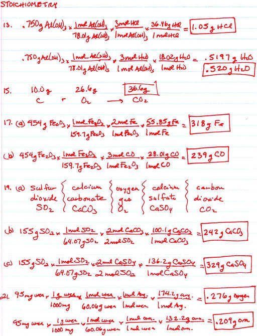 Stoichiometry Help Rivers Education Southwestern Classical Academy Teachers Alfred Cook Assignments