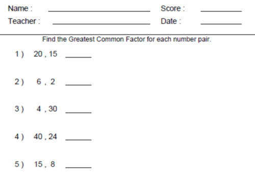Forms Gcf And Lcm Puzzle Activity Worksheet 18 Problems New Factor Trees Worksheets For 6th Grade Worksheets