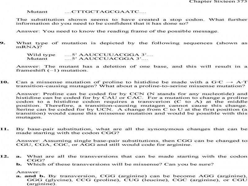 Collection Of Worksheet 13 3 Mutations Answers Adriaticatoursrl