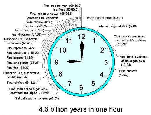 geologic time scale clock Google Search