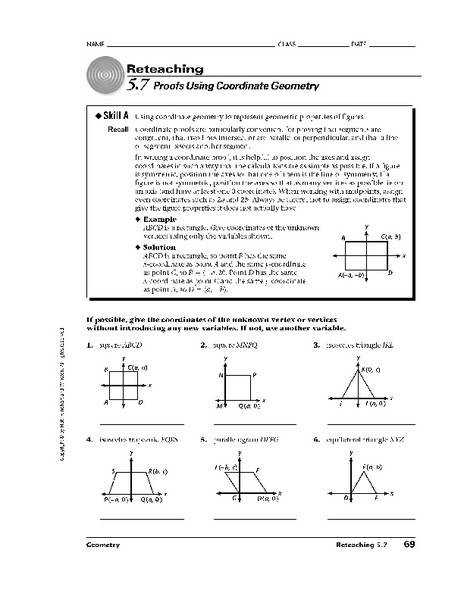 Bunch Ideas of Coordinate Geometry Proofs Worksheets In Example