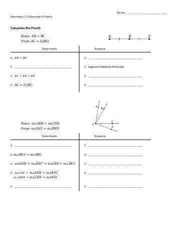 Geometry Name Per Worksheet 2 2 2 3