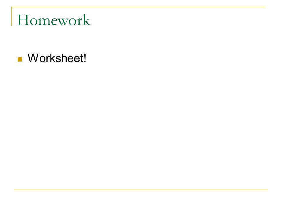 9 Homework Worksheet