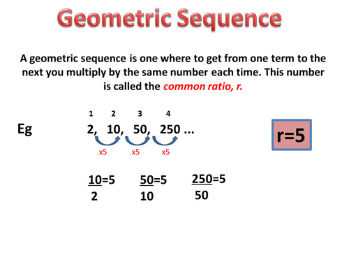 Geometric Sequence and Series PowerPoint