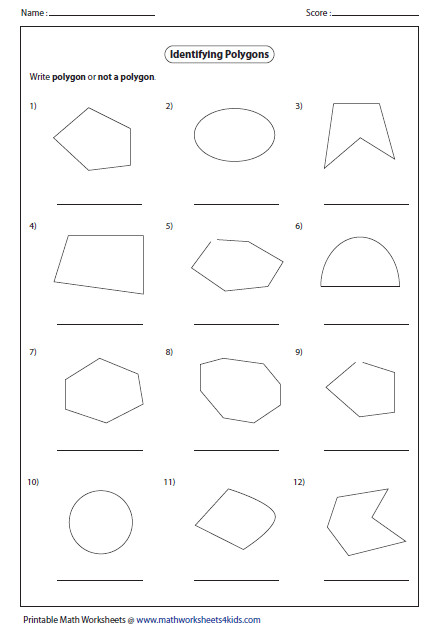 Geometric Shapes Worksheets