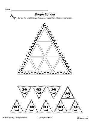 Geometric Shape Builder Worksheet Triangle