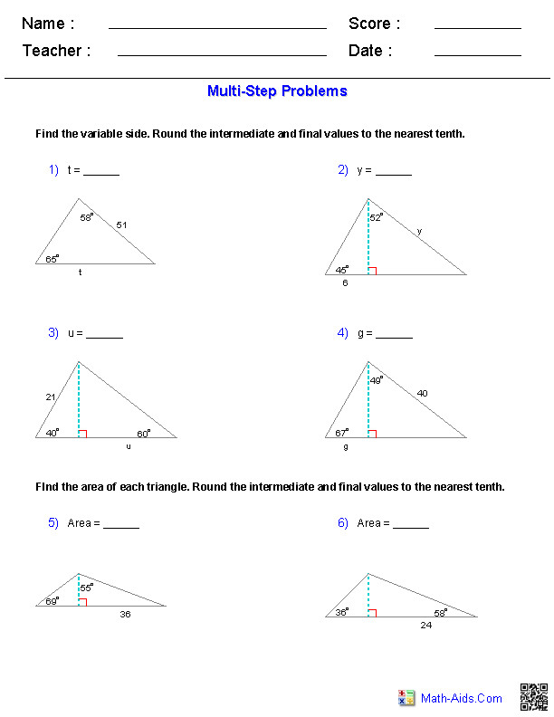 Awesome Collection of 7th Grade Geometry Worksheets About Sample