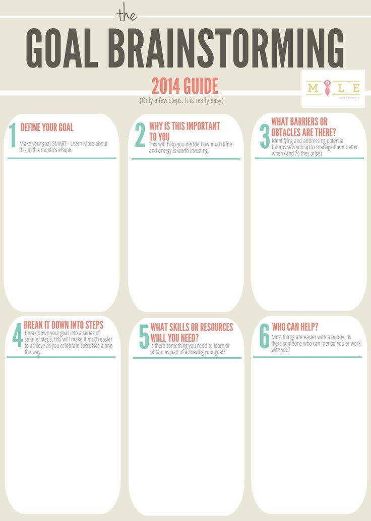 Use this worksheet to help you brainstorm and plan out your goals for 2014 Find out