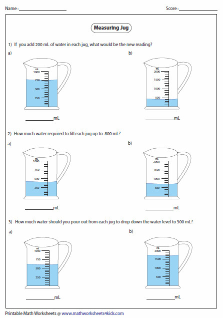 Jug Addition and Subtraction