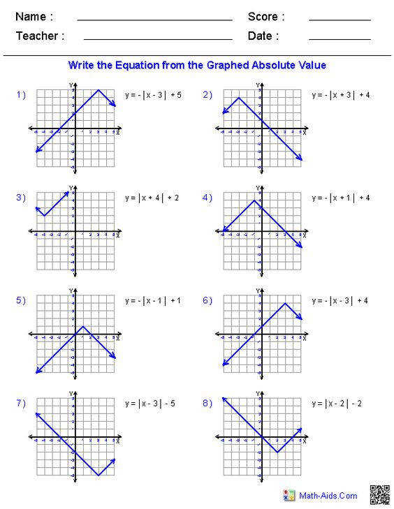 Using the General Absolute Value Equation and the Graphing