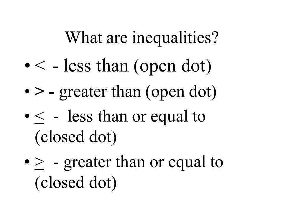 What are inequalities