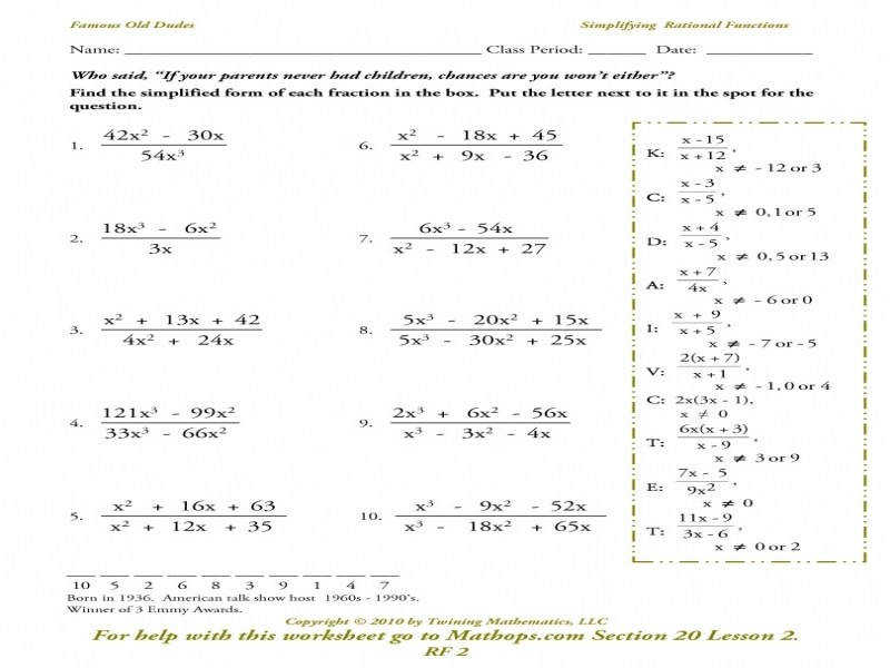 rf 2 simplifying rational functions mathops graphing rational functions worksheet - Graphing Rational Functions Worksheet